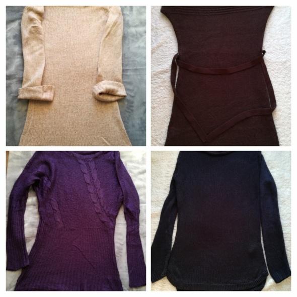 Komplet swetrów tunik sukienek...