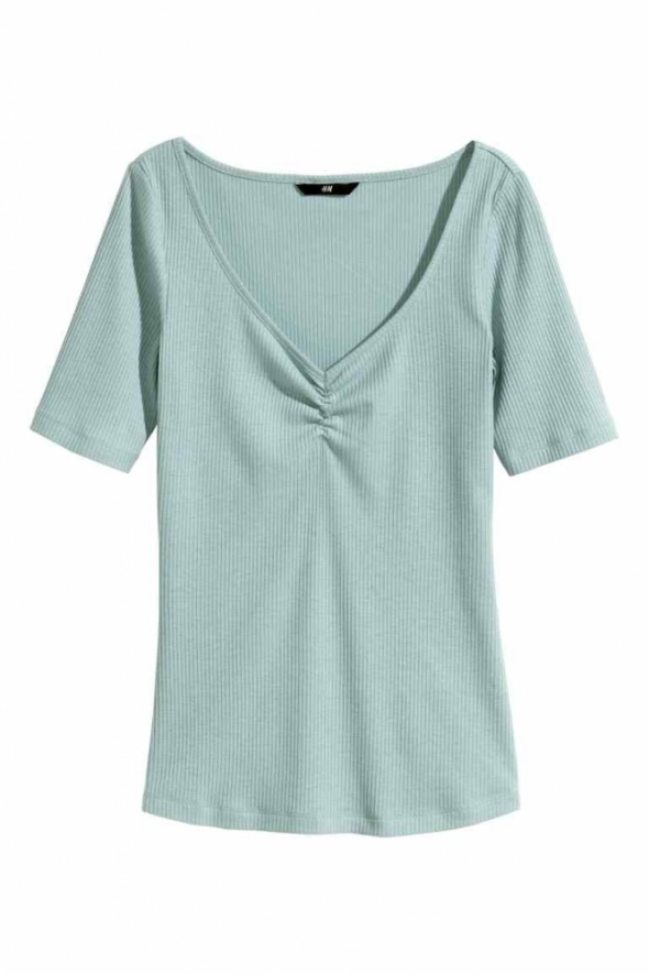 Miętowa koszulka t shirt h&m xs 34 s 36 top