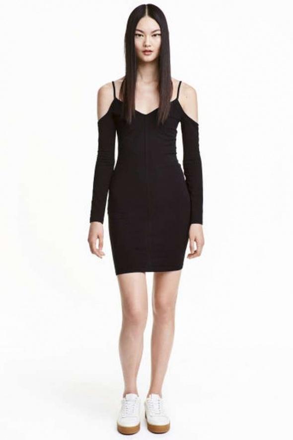 sukienka h&m 34 xs 36 s pencil ołówkowa cold shold