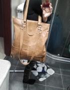 Autorska torebka damska ze skóry nat XXXL galeria...
