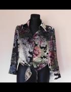 Beth Therrell bluzka jedwab kwiaty 34 36...