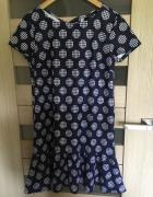 Sukienka Mohito w grochy z wiązaniem na kokarde...