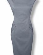 Orsay elegancka szara sukienka do biura wizytowa L...