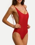 Strój kąpielowy jednoczęściowy czerwony monokini...