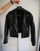 Ramoneska H&M kurtka skórzana czarna ekoskóra...
