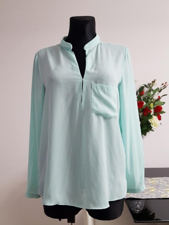 turkusowa bluzka z kieszonką Janina...