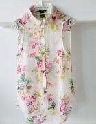 Bluzka Bez Rękawów Floral Kwiaty H&M 34 XS...