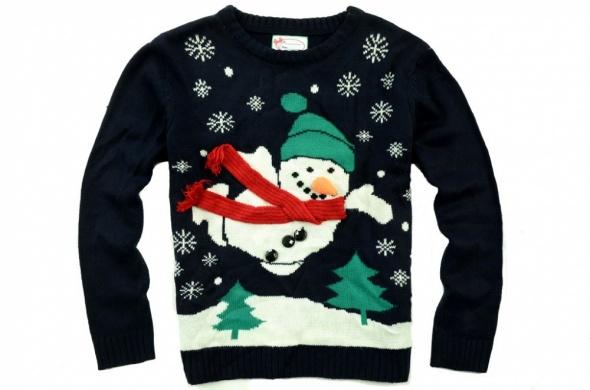 christmas świąteczny sweter bałwan S 36...