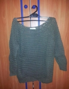 Sweterek dzianina khaki Promod S