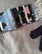 Nowy akrylowy szalik w azteckie wzory rękawiczki gratis...