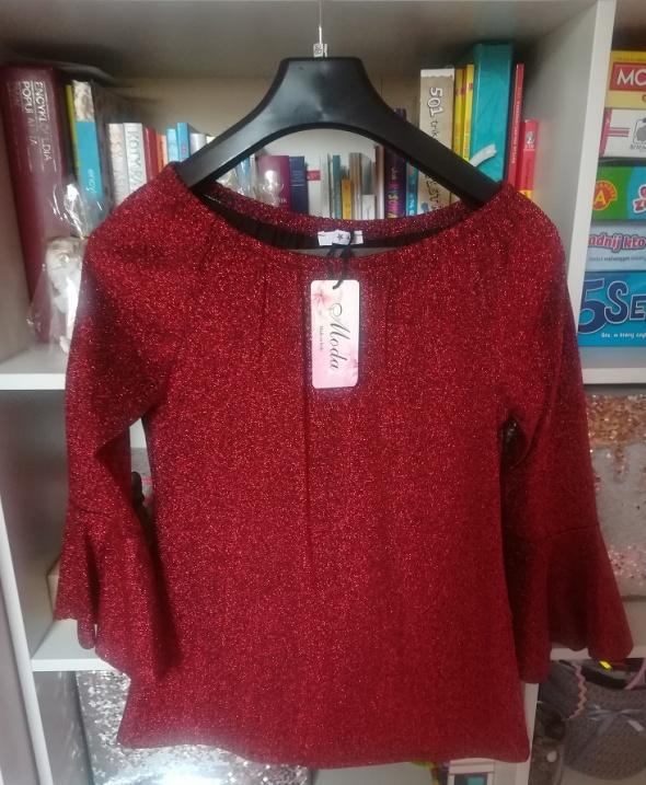 Nowa włoska czerwona tunika hiszpanka na święta