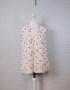 14 42 XL TU Plus Size Kremowa bluzeczka w kwiaty...