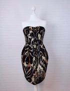10 38 M H&M Czarna złota sukienka idealna na Sylwestra...