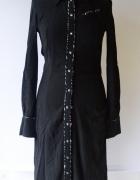 Sukienka Czarna Koszula H&M XS 34 Koszulowa Długa Maxi...