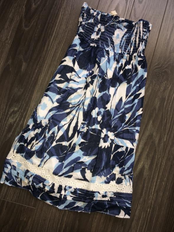 Hollister śliczna tunika sukienka koronka haft