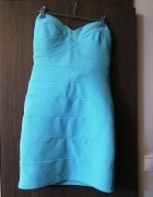Niebieska sukienka rozm L...