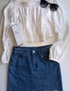 Jeansowa mini spódniczka XXS XS...