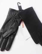 Rękawiczki NOWE Skórzane John Lewis S M Czarne Wstawki...