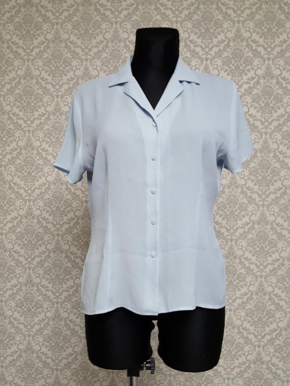 błękitna bluzka koszulowa Marks&Spencer...