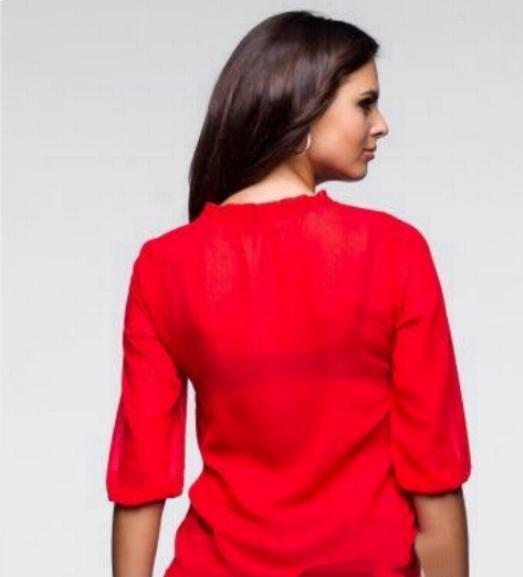 Czerwona modna bluzka koszula r 40...
