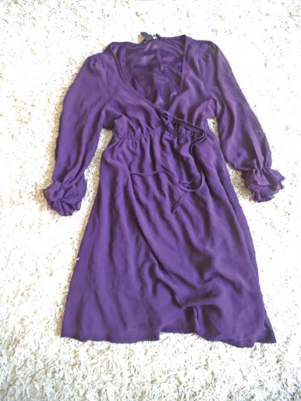 sukienka fioletowa HM 36 S zwiewna super