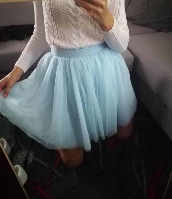Śliczna tiulowa spódnica baby blue