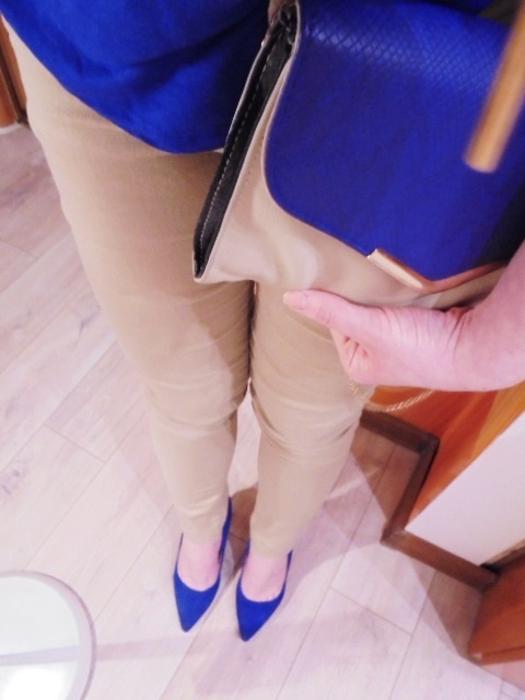 Spodnie beżowe spodnie nude minimalizm klasyczne 36