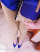 beżowe spodnie nude minimalizm klasyczne 36