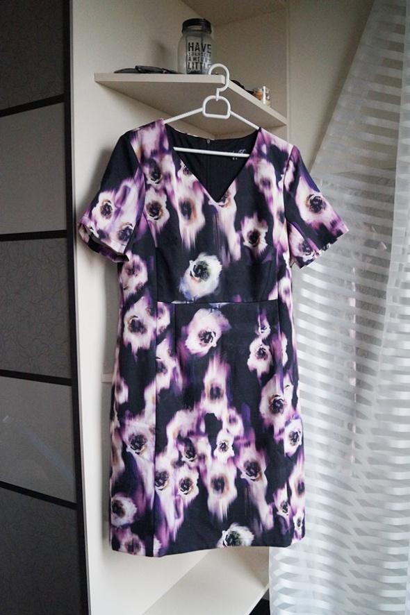 Sukienka w kwiaty Smashed Lemon L