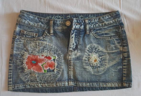 Jeansowa mini spódniczka...