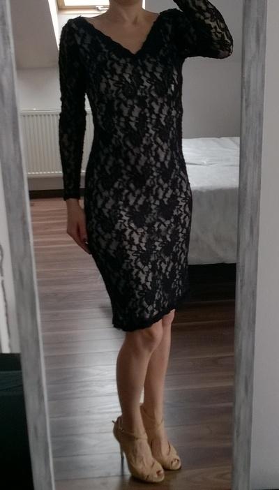 George koronkowa sukienka czarna M L...