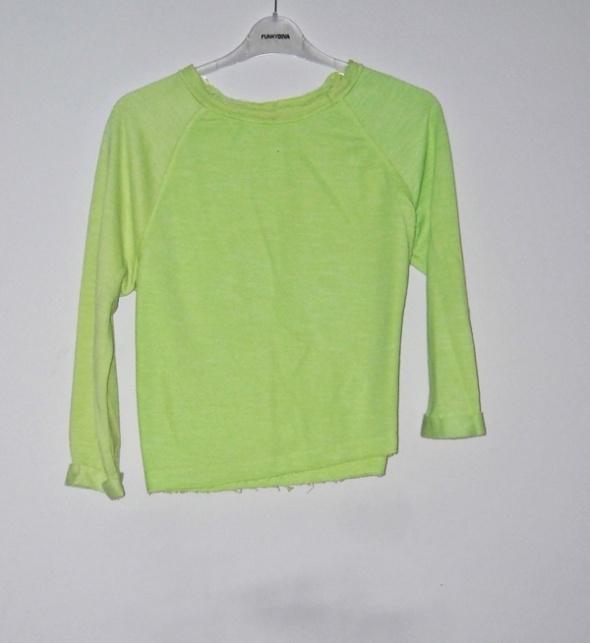 krótka limonkowa bluza s m