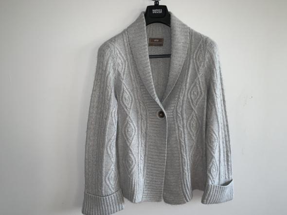 mięciutki sweterek z angorą Marks Spencer 42