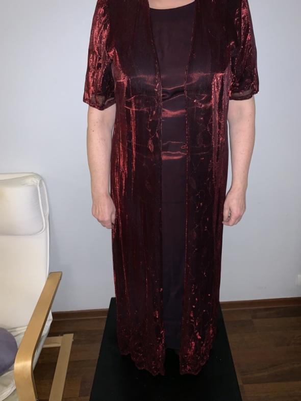 Suknie i sukienki jak nowa wieczorowa sukienka z narzutką 40