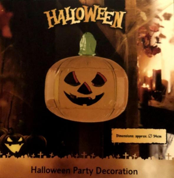 LIDL dmuchana dynia halloweenowa średnica 34 cm w pudełku ozdoba NOWA