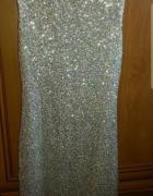 Cekinowa srebrna sukienka