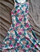 letnia wzorzysta sukienka