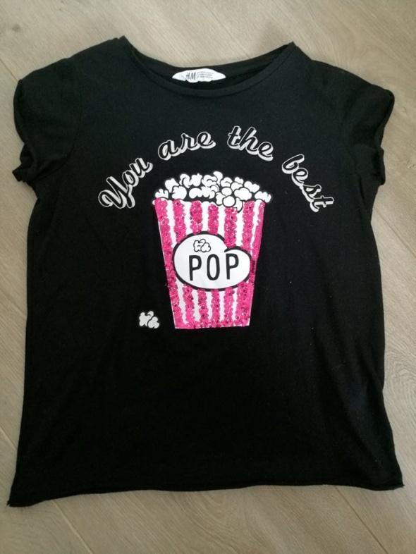 Koszulki, podkoszulki dziewczęca Koszulka z nadrukiem 158 H&M