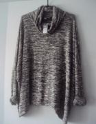 melanzowy sweter oversize...