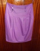 fioletowa spódnica z wysokim stanem...