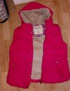 różowa kamizelka z futerkiem...