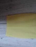 Żółta ołówkowa spódnica...
