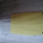 Żółta ołówkowa spódnica