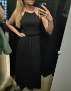 Czarna sukienka długa 36 S 38 m