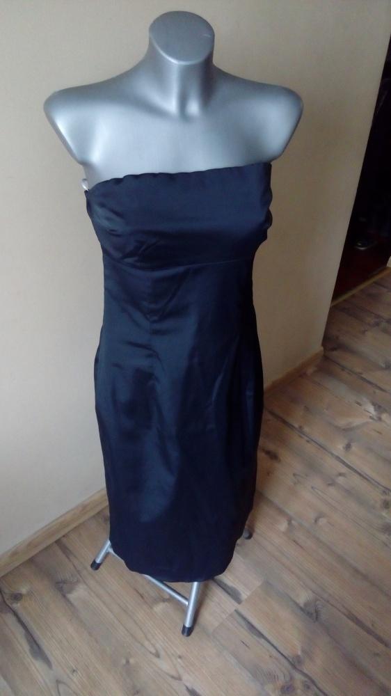 Oasis piękna czarna z połyskiem sukienka ML...