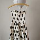 Sukienka gorsetowa bez ramiączek w grochy rozm 38 40