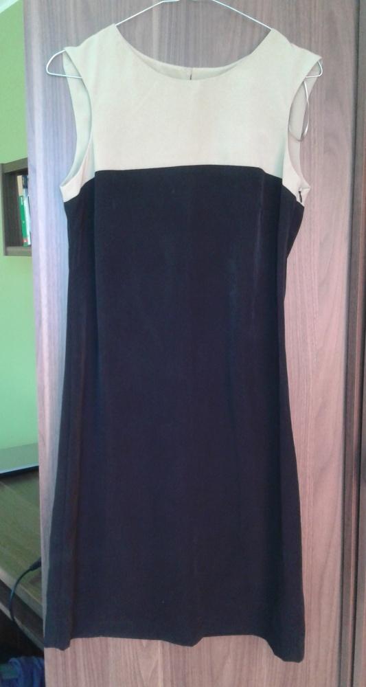 Sukienka elegancka czarna beżowa rozmiar 36...