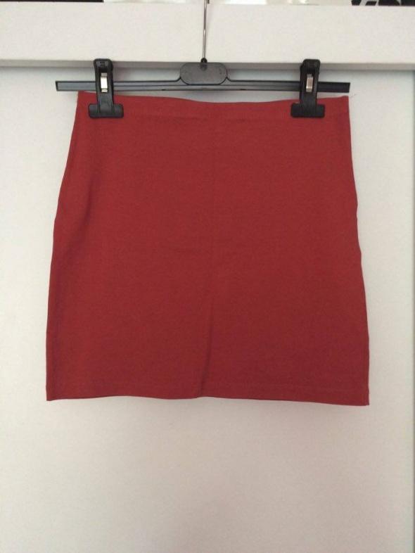 H&M krótka spódniczka mini ceglasta czerwona