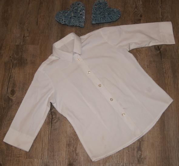 Koszula okazjonalna chłopiec biel rozm 122 do 128
