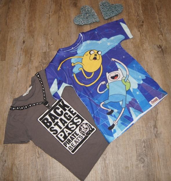 Bluzeczka koszulka zestaw Pora na przygodę H&M rozm 122
